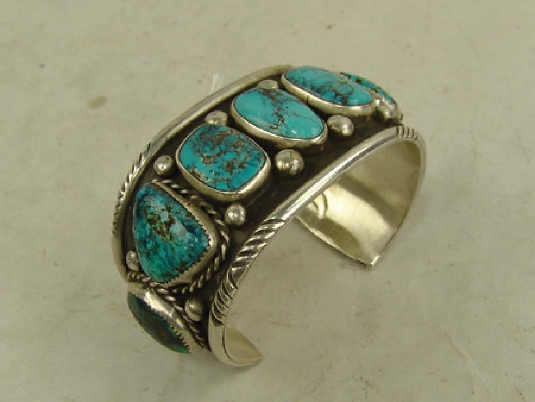 """Navajo Bracelet - """"CR"""" - 3"""