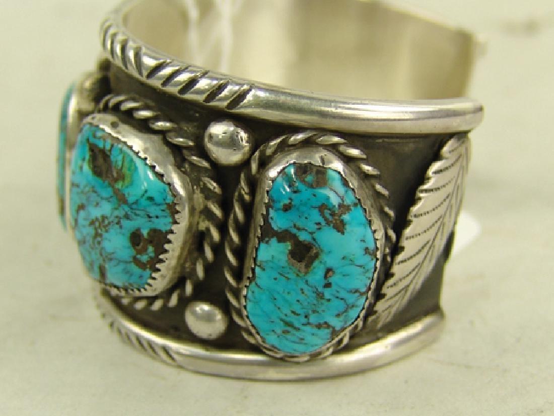 """Navajo Bracelet - """"CR"""" - 4"""