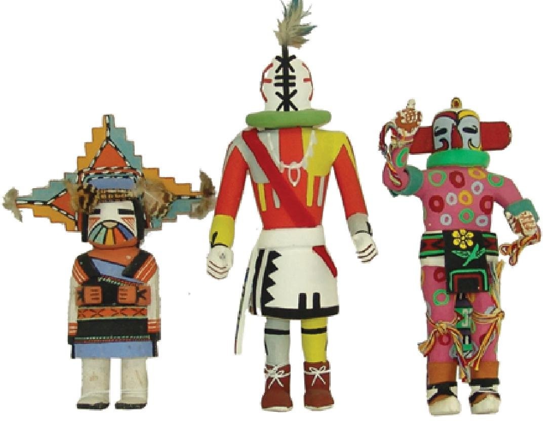 3 Kachina Carvings