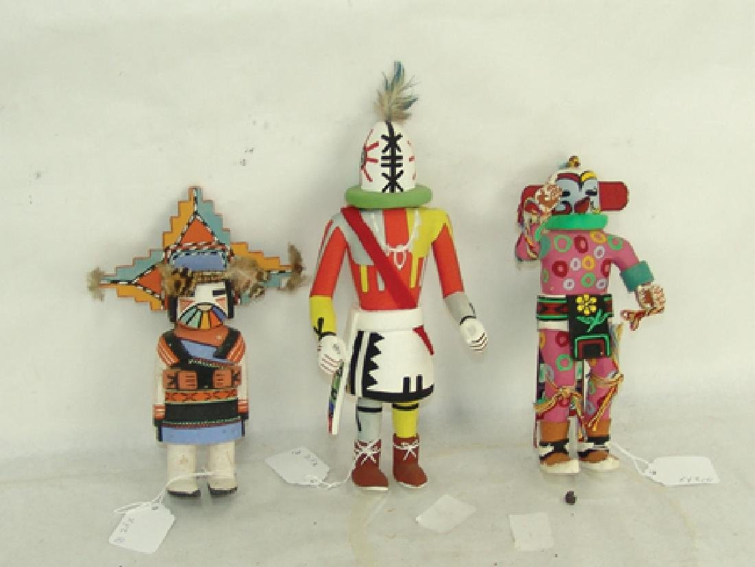 3 Kachina Carvings - 2