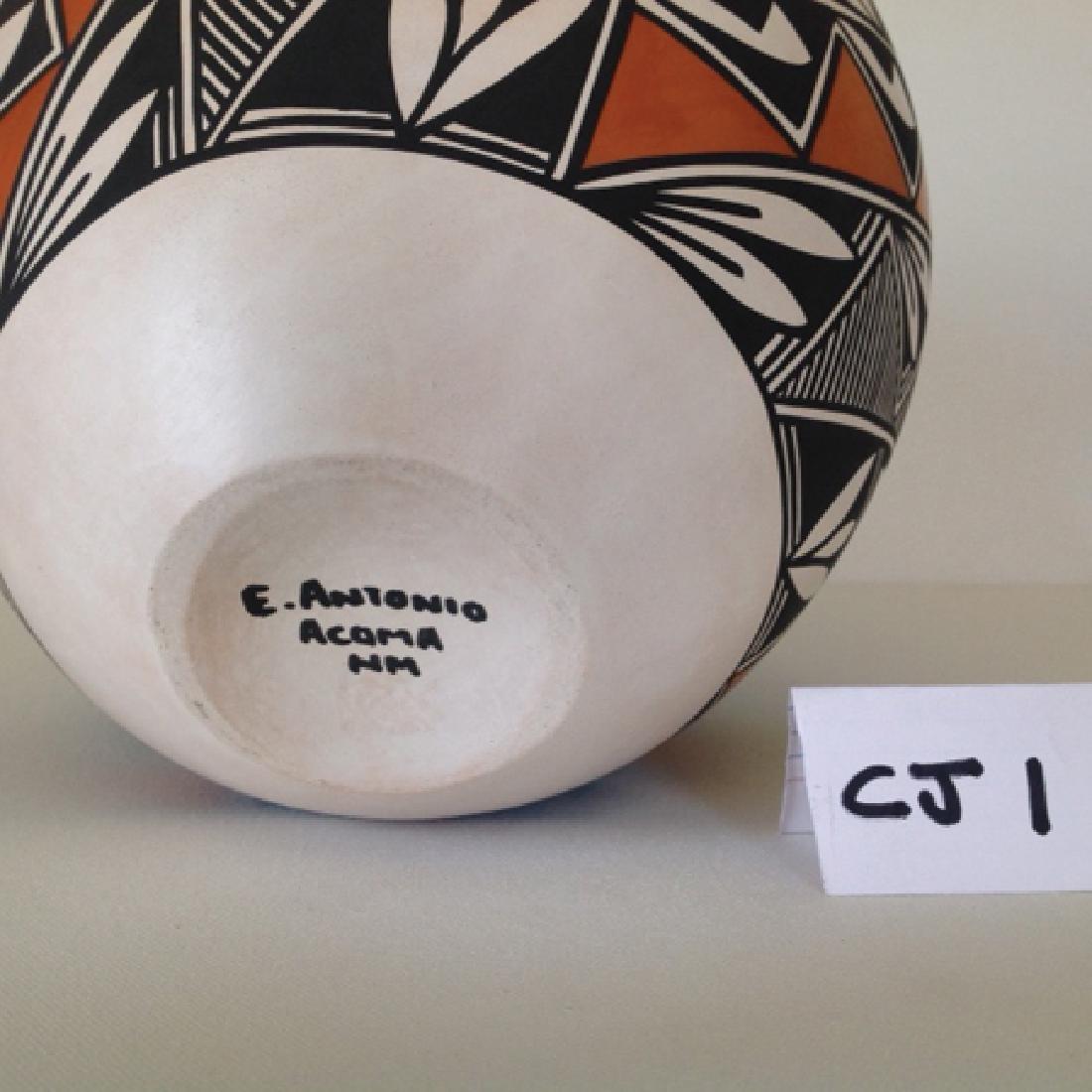 Acoma Pottery Jar - E. Antonio - 2