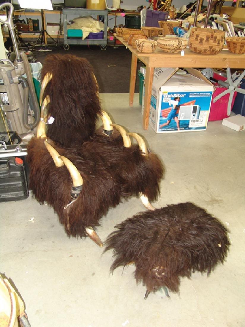 Antique Buffalo Chair - 2