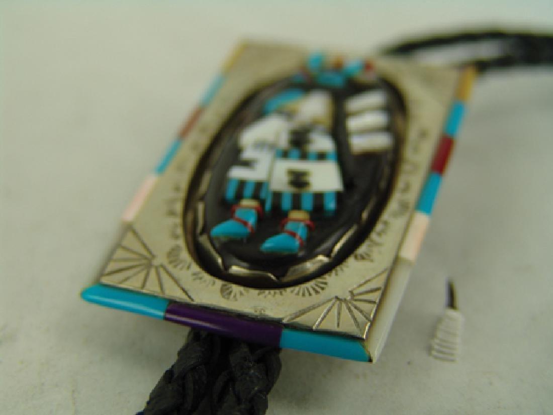 Zuni Inlay Bolo Tie - 5