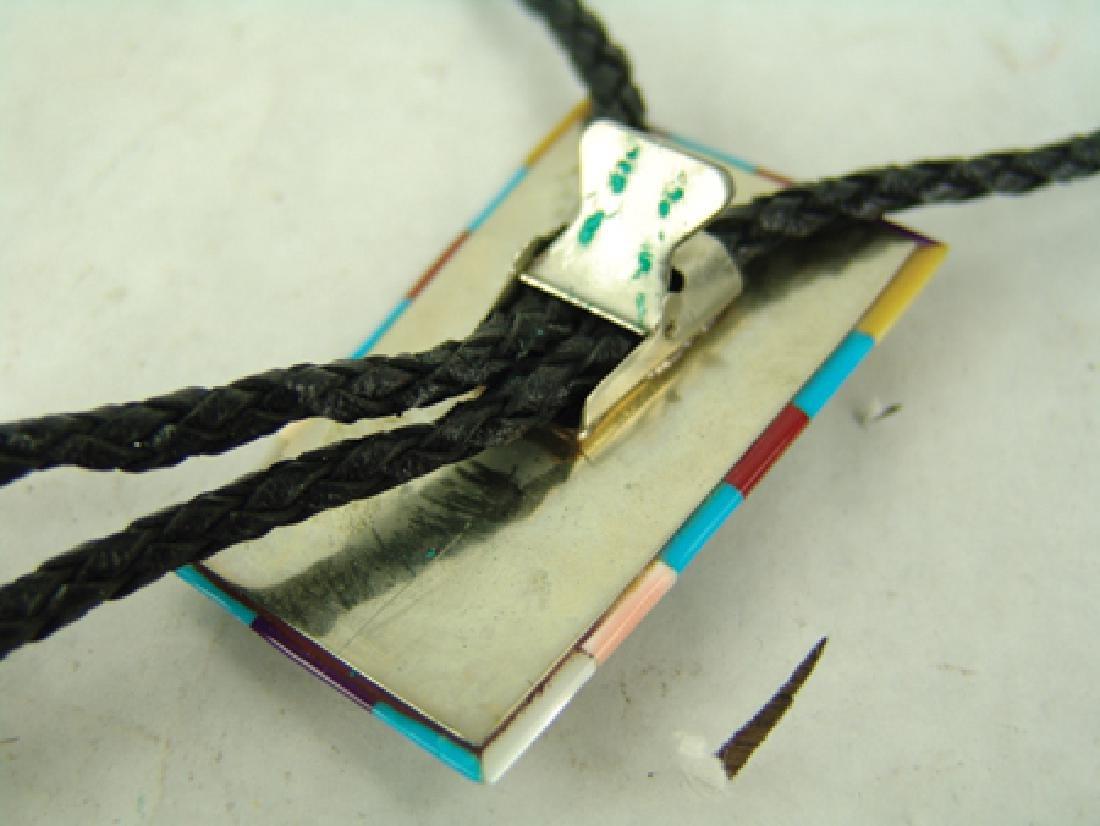 Zuni Inlay Bolo Tie - 9