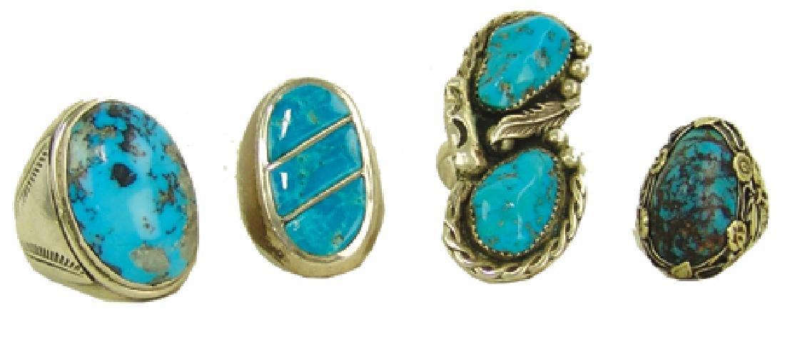 4 Navajo/Zuni Rings