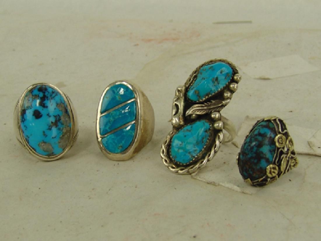 4 Navajo/Zuni Rings - 2