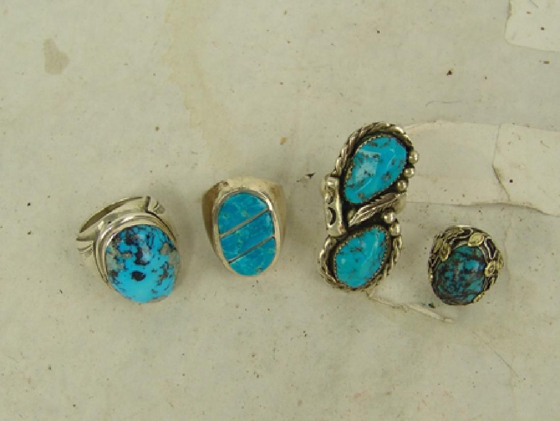 4 Navajo/Zuni Rings - 3