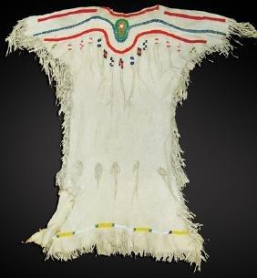 Plateau Beaded Buckskin Dress