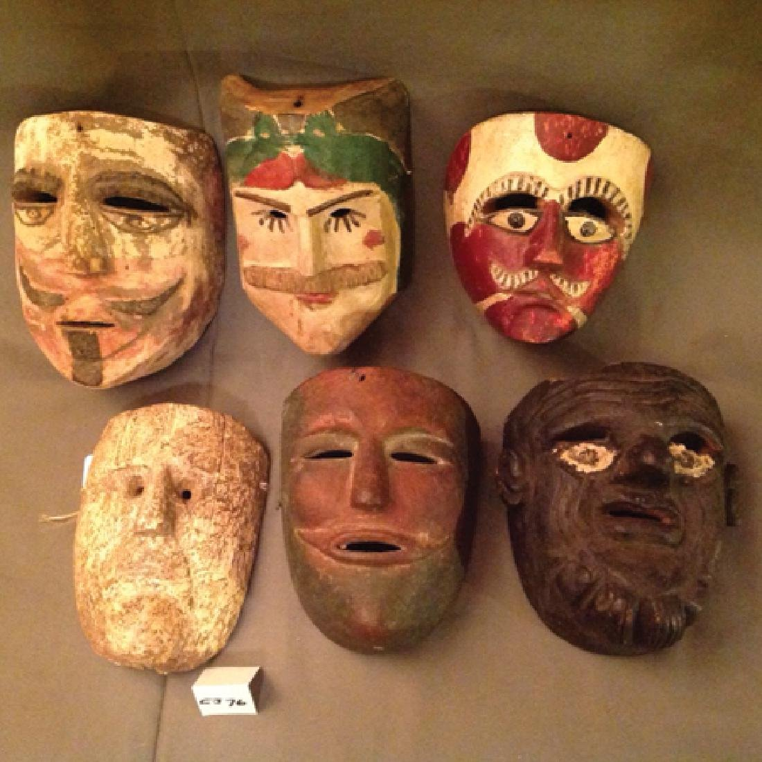 6 Mexican Masks - 2