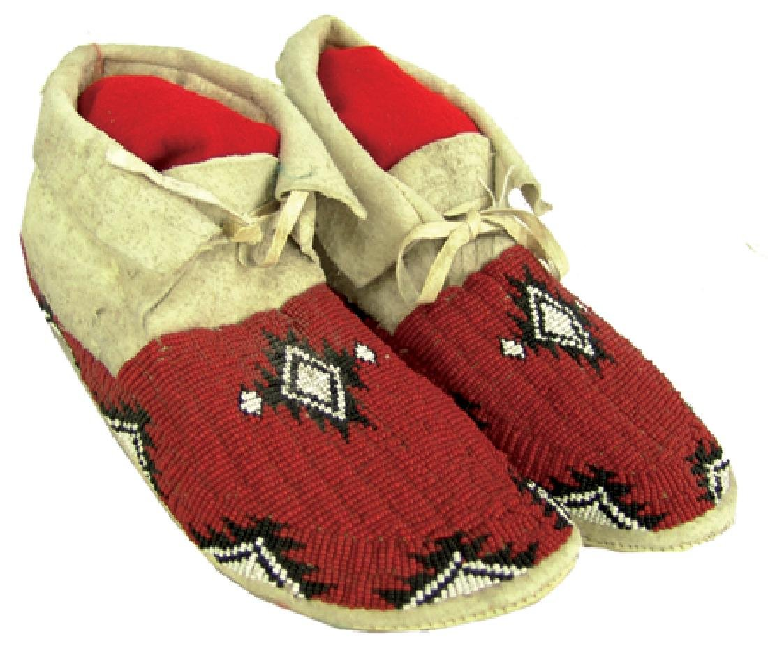 Paiute Beaded Moccasins