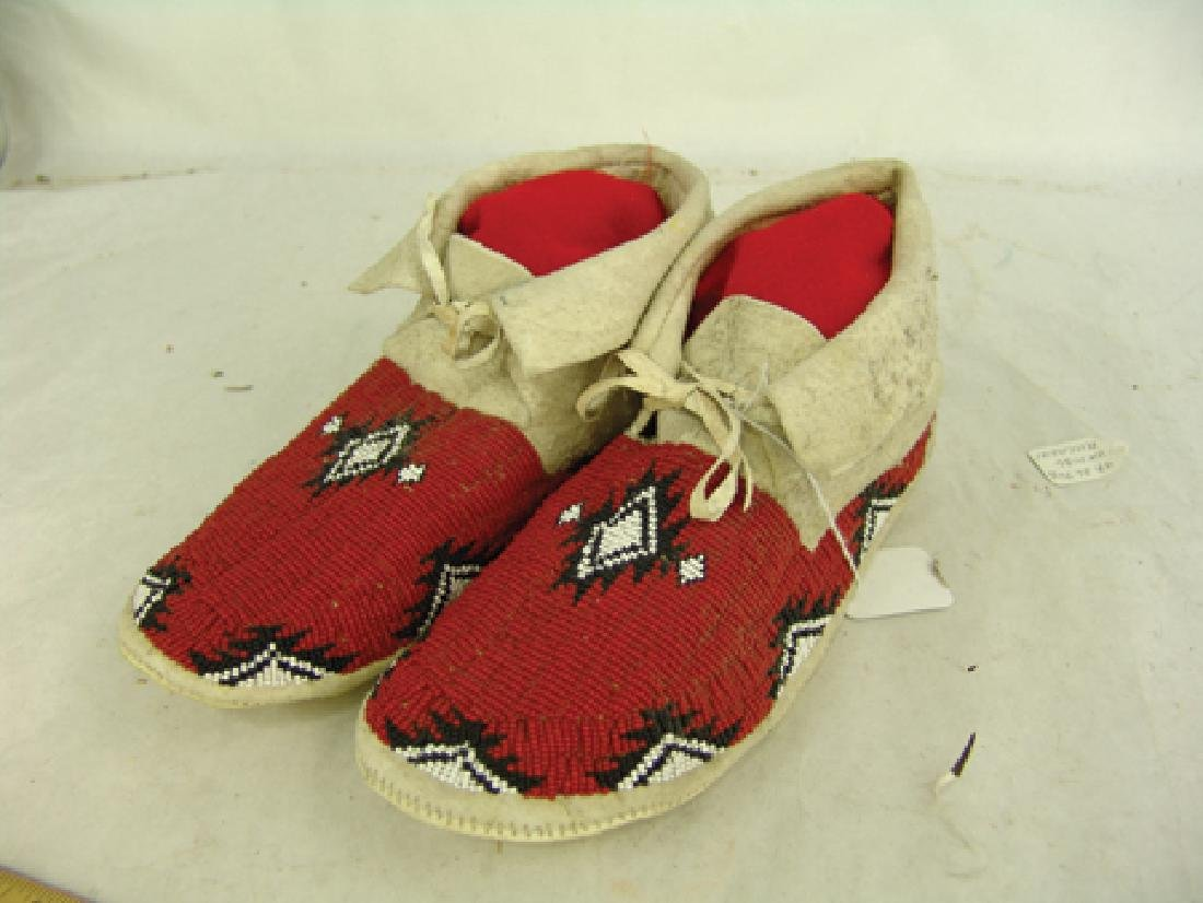 Paiute Beaded Moccasins - 2