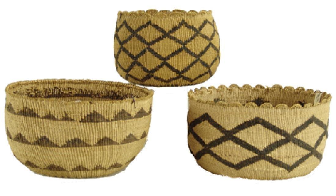 3 Modoc Baskets