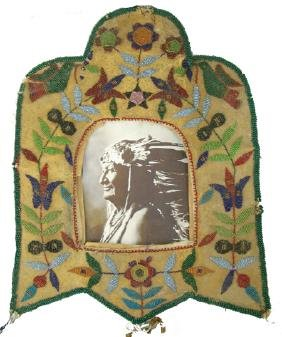 Santee Sioux Beaded Picture Frame