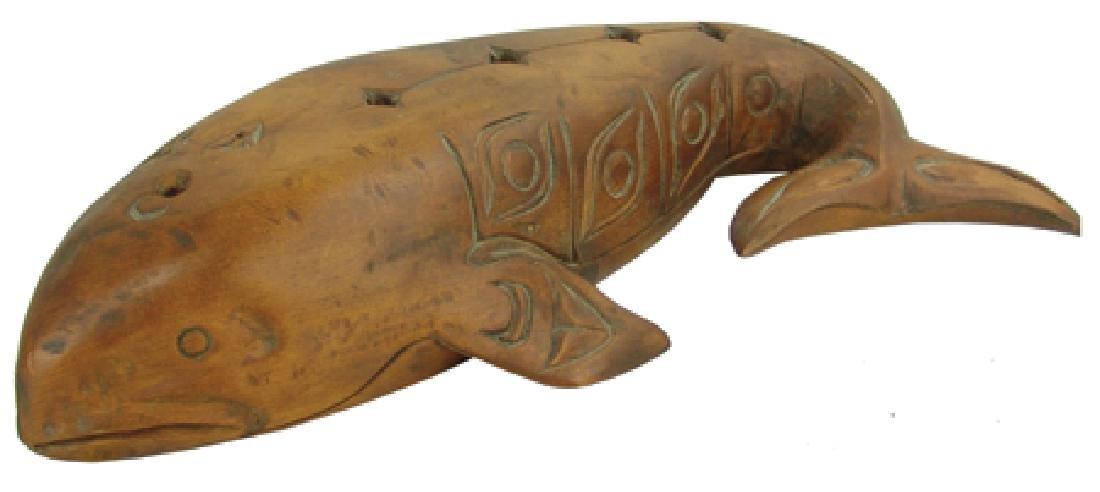 Salish Whale Carving - Simon Charlie (1920-2005)
