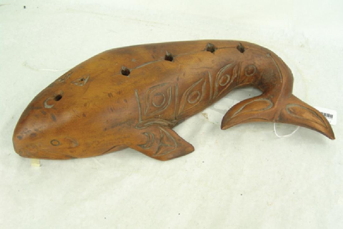 Salish Whale Carving - Simon Charlie (1920-2005) - 3