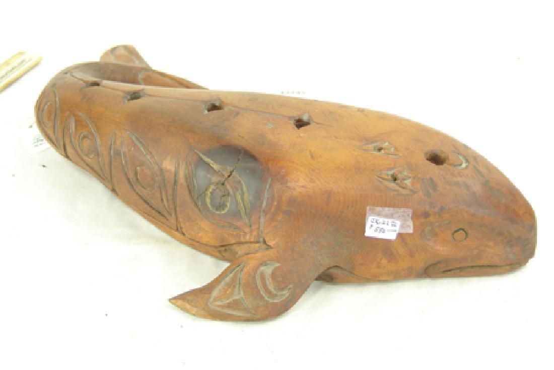 Salish Whale Carving - Simon Charlie (1920-2005) - 5