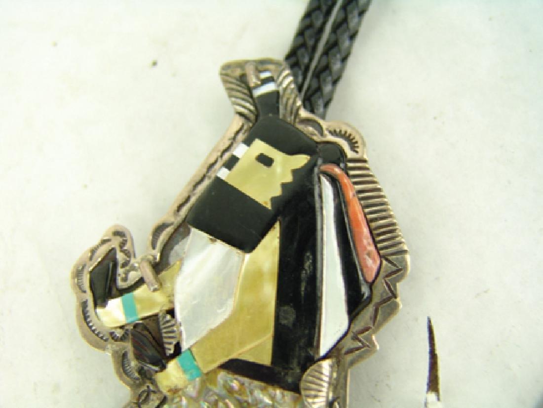 Zuni Inlay Bolo Tie - 3