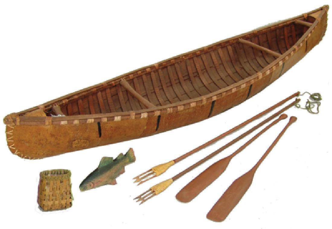 Woodlands Model Canoe