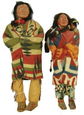 2 Antique Skookum Dolls