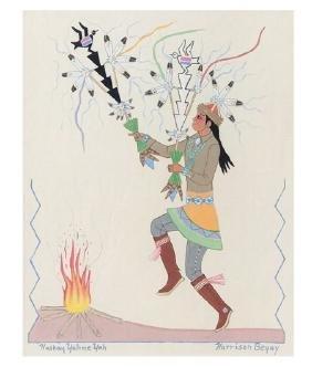 Harrison Begay (Haskay Yahne Yah), Navajo