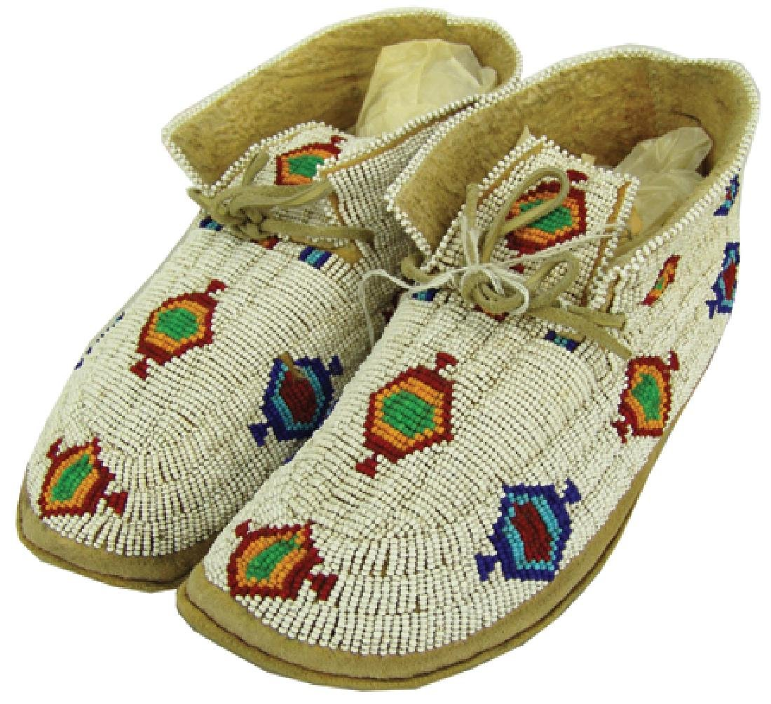 Northern Cheyenne Beaded Moccasins