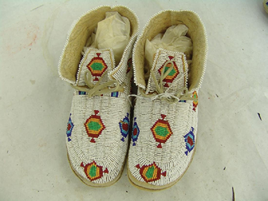 Northern Cheyenne Beaded Moccasins - 2