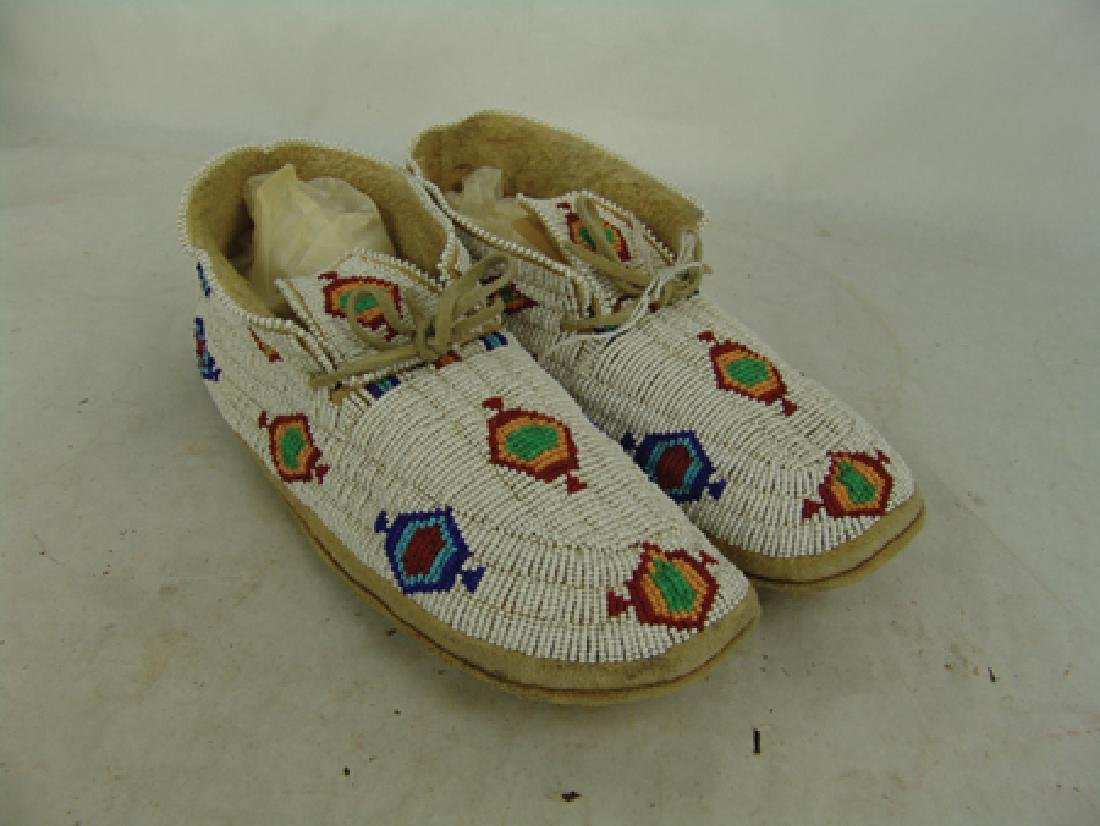 Northern Cheyenne Beaded Moccasins - 3