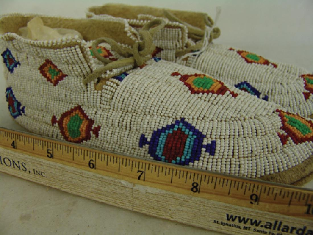 Northern Cheyenne Beaded Moccasins - 4