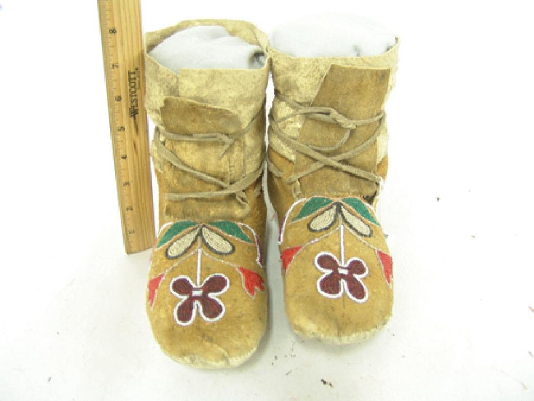 Plateau Beaded Moccasins - 2