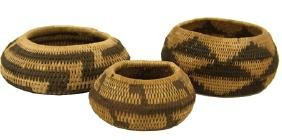 3 Pomo Miniature Baskets