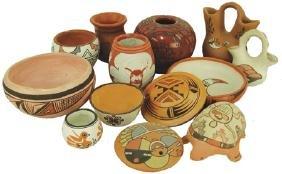 Box Lot of Small Pottery