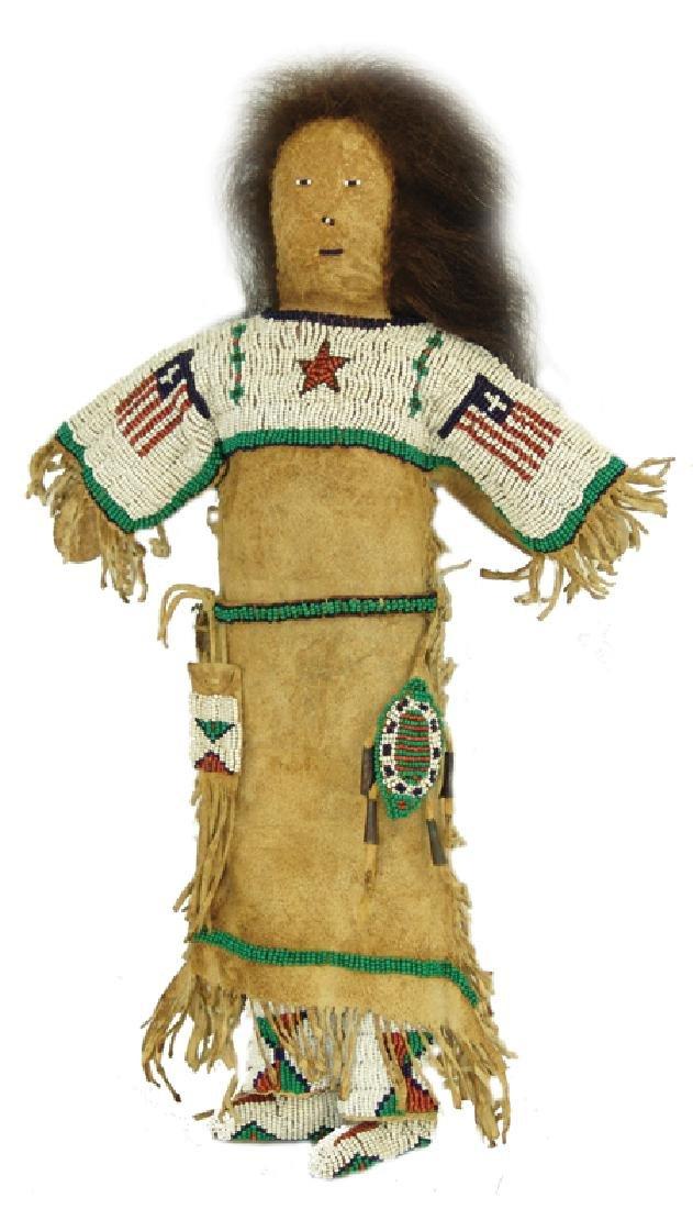 Sioux Beaded Buckskin Doll