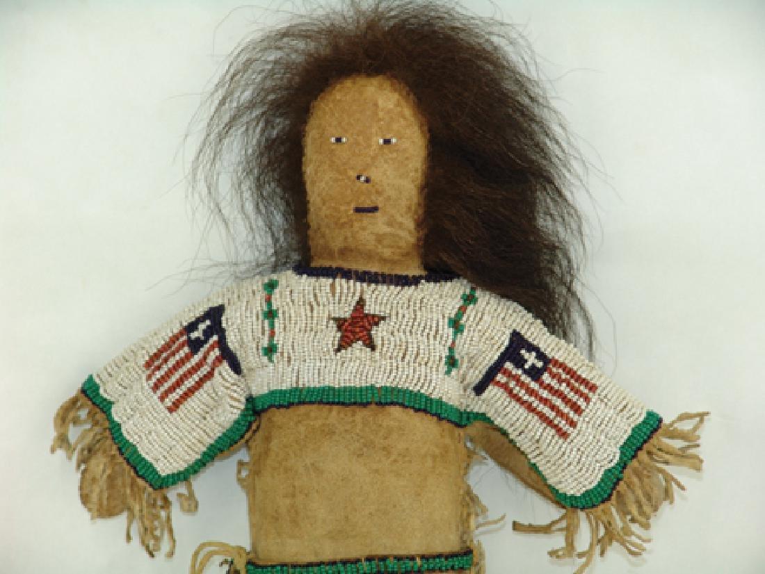 Sioux Beaded Buckskin Doll - 2