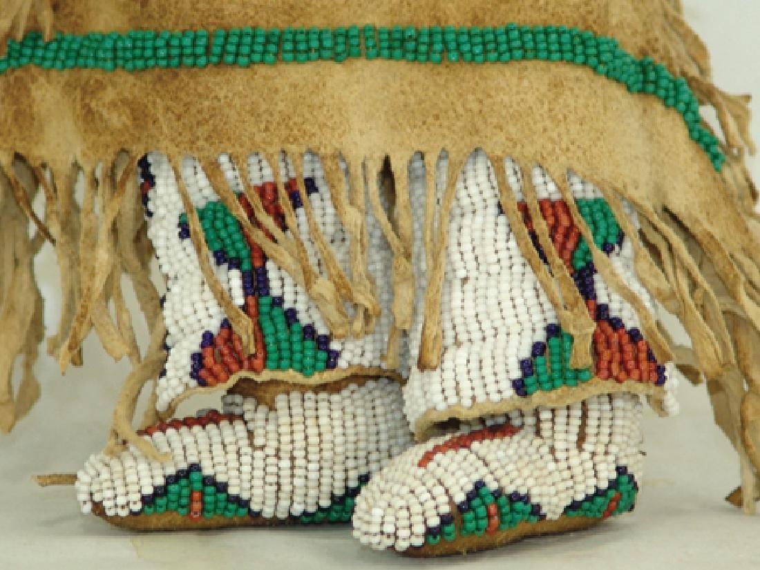 Sioux Beaded Buckskin Doll - 5