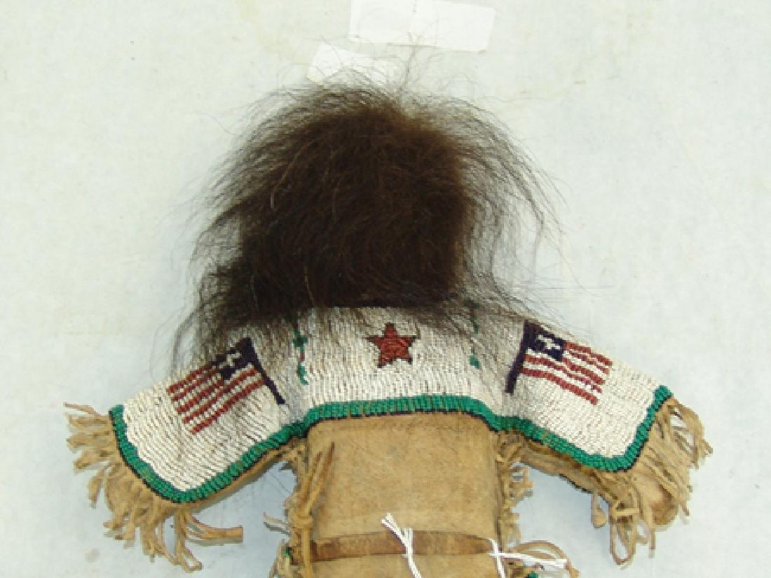 Sioux Beaded Buckskin Doll - 6