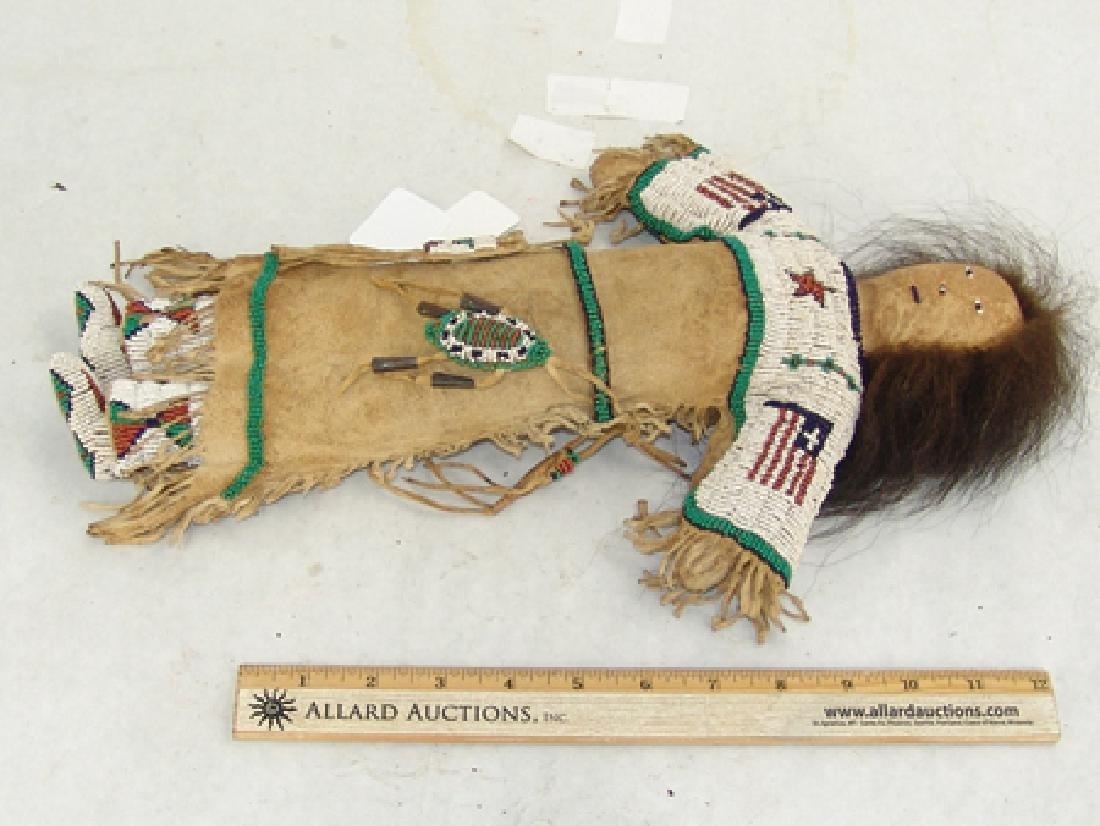 Sioux Beaded Buckskin Doll - 8