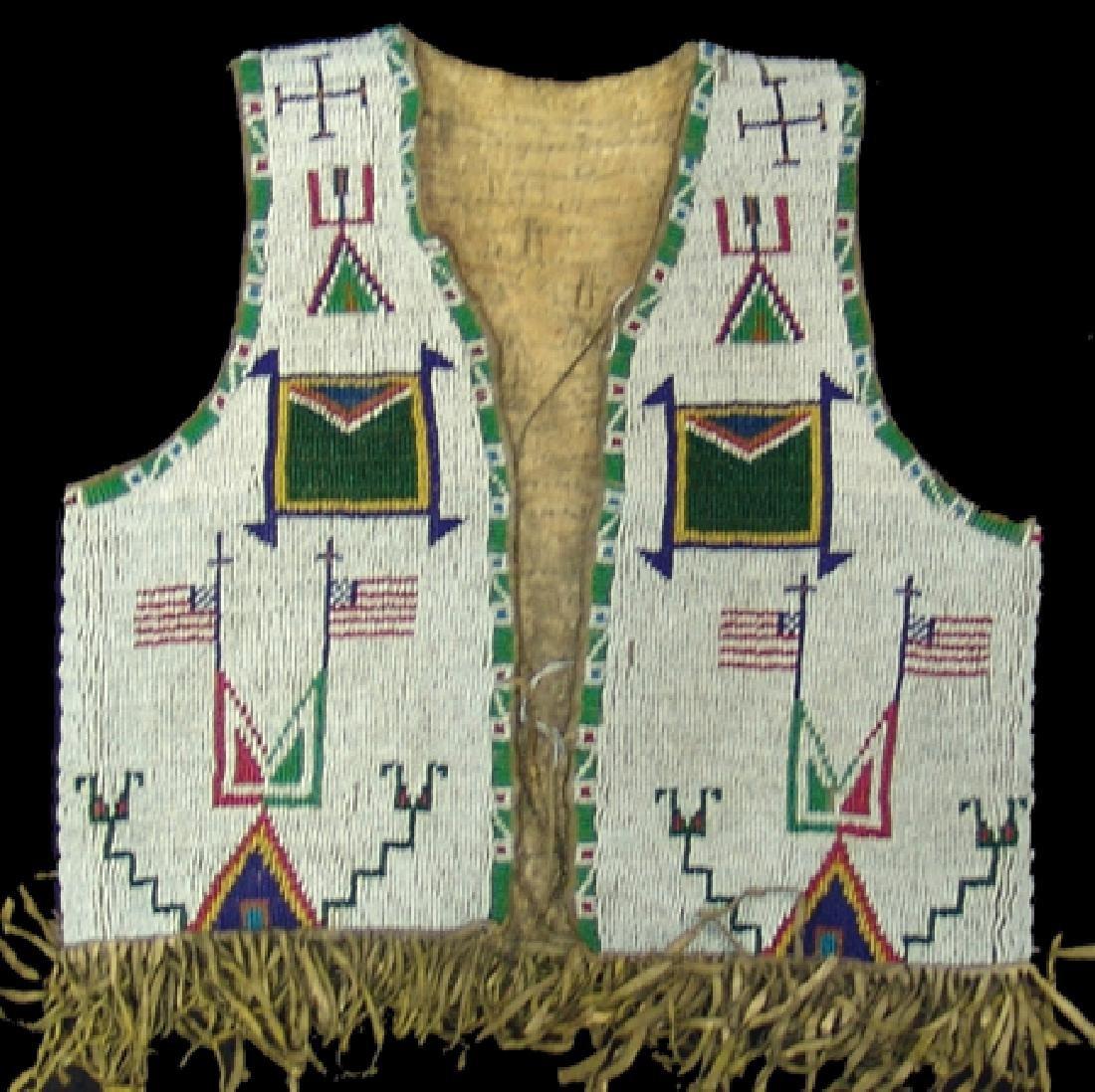 Sioux Beaded Boy's Vest - 3