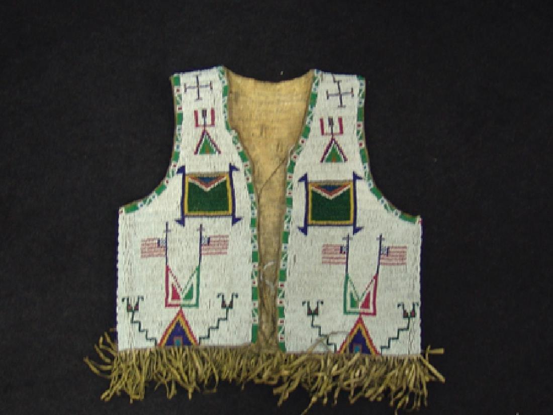 Sioux Beaded Boy's Vest - 4