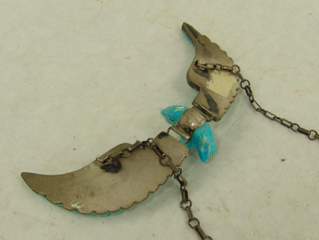 Carved Turquoise Eagle Necklace - 7