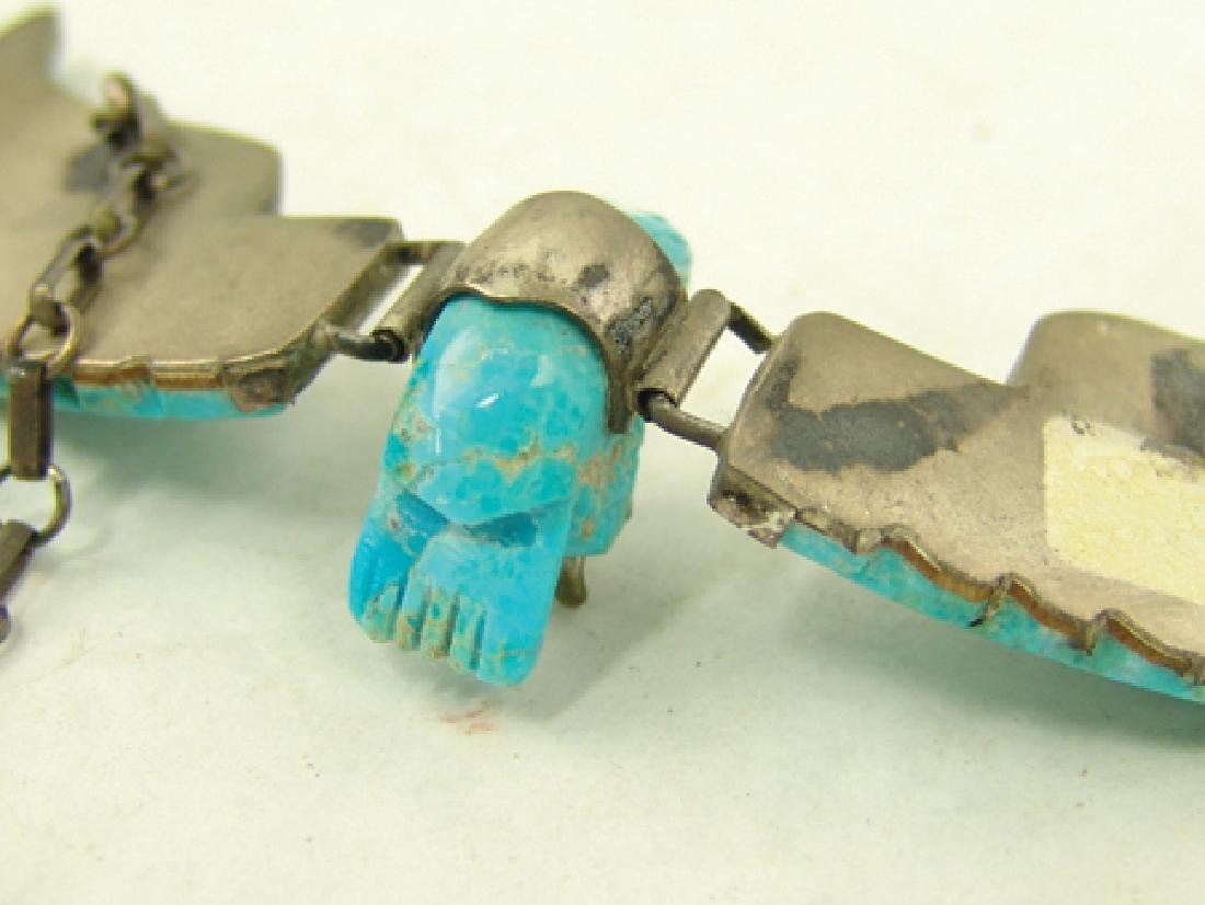 Carved Turquoise Eagle Necklace - 8