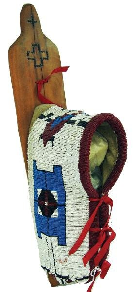 Plains Beaded Toy Cradleboard