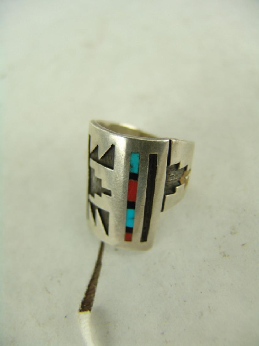 3 Vintage Inlay Rings - 2
