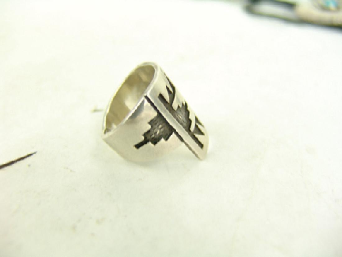 3 Vintage Inlay Rings - 3