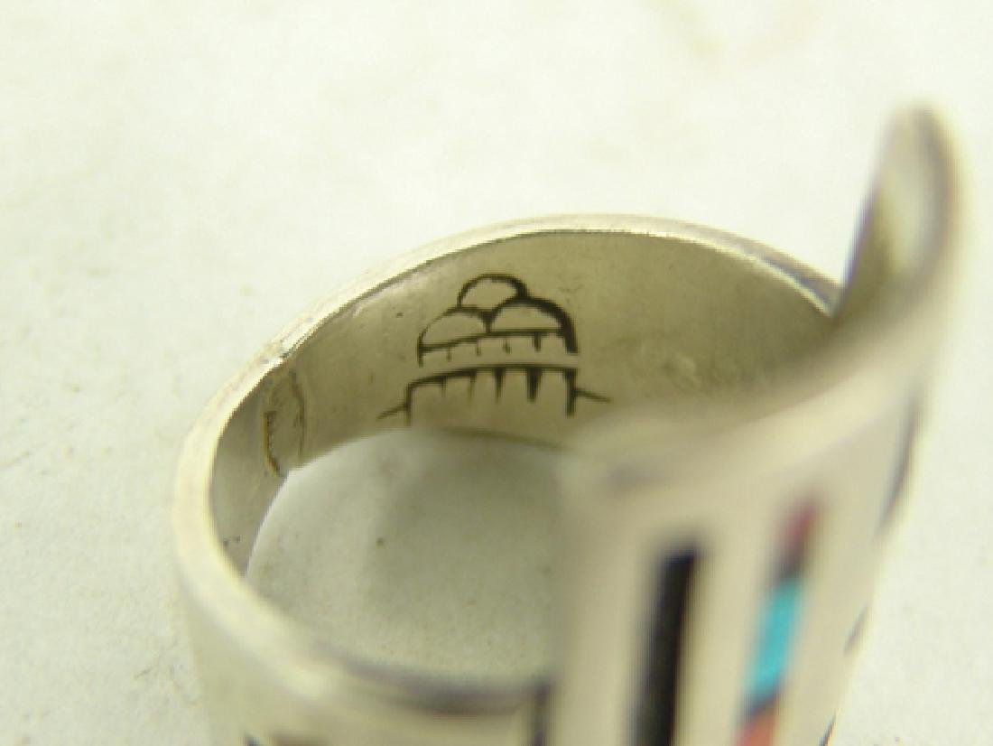 3 Vintage Inlay Rings - 4
