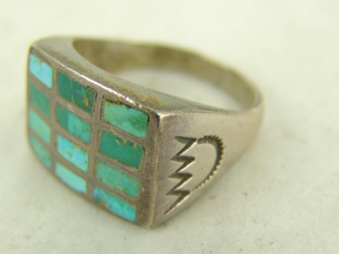 3 Vintage Inlay Rings - 5