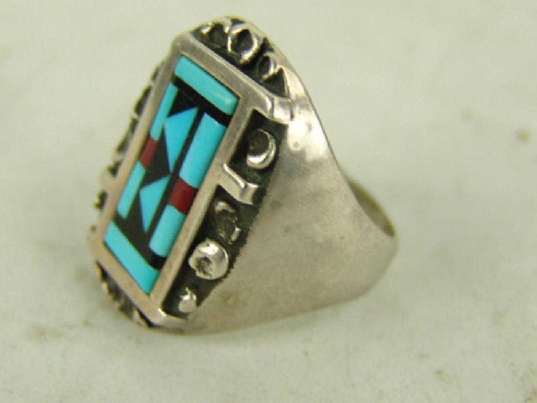 3 Vintage Inlay Rings - 6
