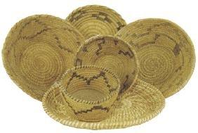 Box Lot of Papago Baskets