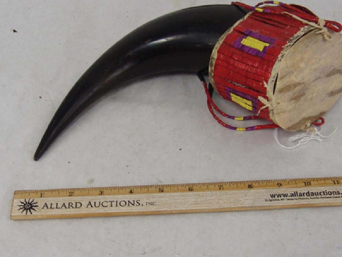 Plains Quilled Buffalo Horn Cup - 3