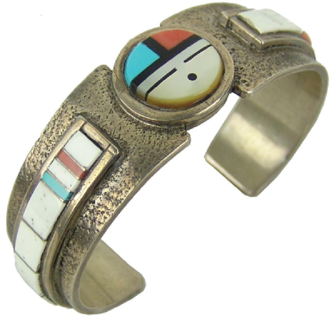 Zuni Inlay Bracelet - Myron Panteah