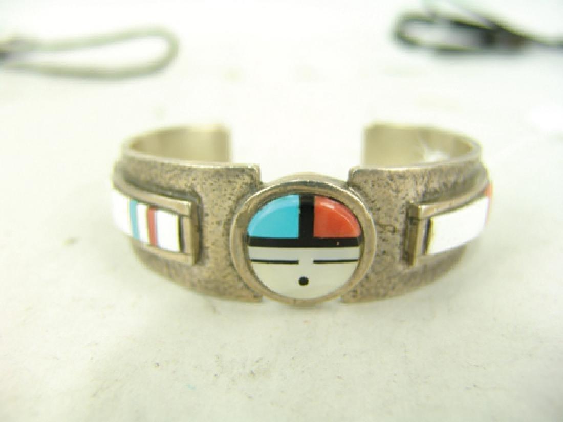Zuni Inlay Bracelet - Myron Panteah - 2